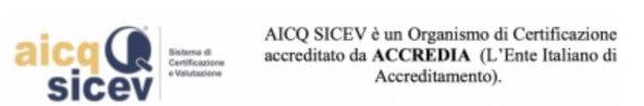 Aicq Sicev - Certificato